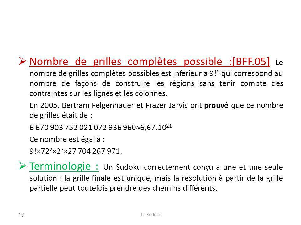 Nombre de grilles complètes possible :[BFF